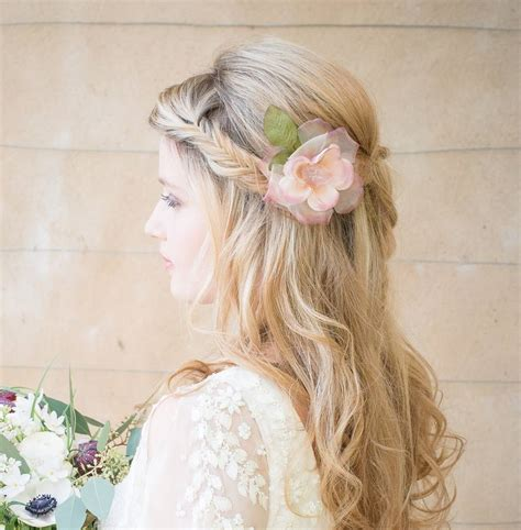 Wedding Hair With Roses by Frances Silk Hair Flower By Chez Bec Notonthehighstreet