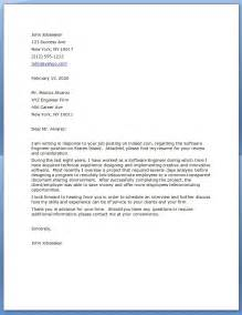 cover letter format for software engineer software engineer cover letter quality resources
