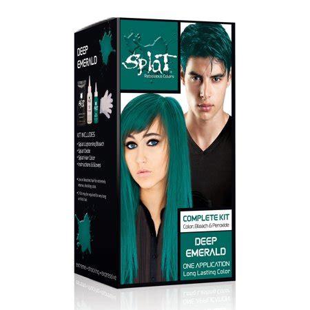 hair dye colors walmart splat 30 wash hair dye kit semi permanent emerald