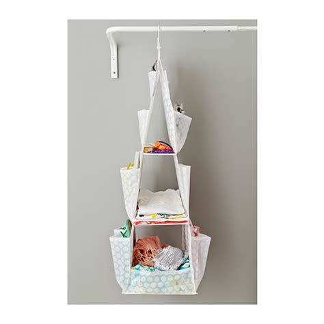 ikea hanging storage pluring hanging storage with 3 compartments white