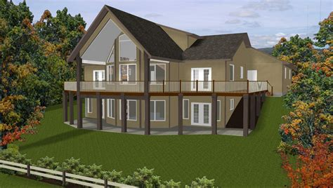 hillside home plans with basement sloping lot house slope bat luxamcc