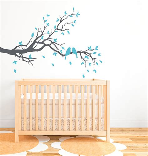 Bird Wall Decals For Nursery Tree Branch Bird Nursery Wall Decal Db197