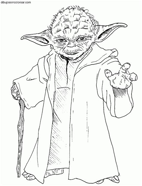 imagenes para colorear star wars dibujos del maestro yoda star wars la guerra de las
