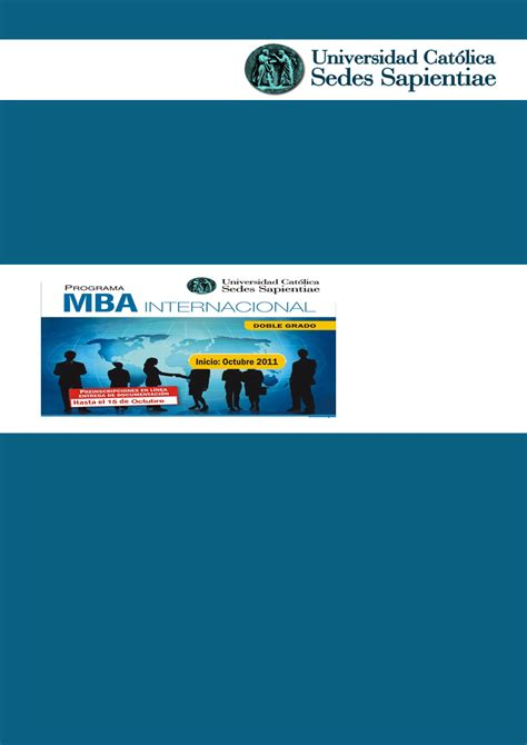 Una Mba Review by Ucss Mba Internacional M 225 Ster En Gesti 243 N Estrat 233 Gica