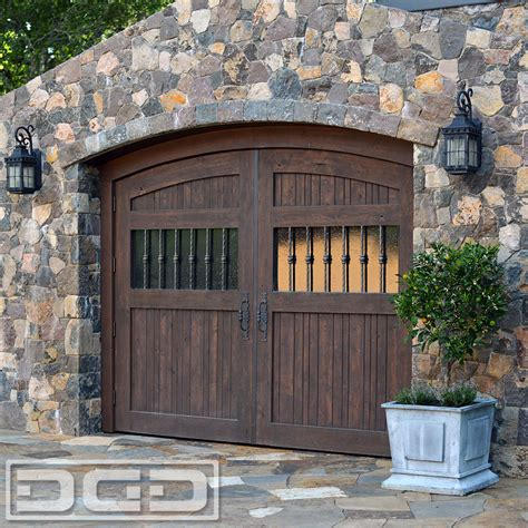 rustic style wooden carriage garage doors made in