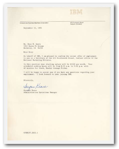 business letter questions in ibm in the burb