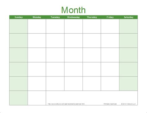 14 Blank Activity Calendar Template Images   Printable