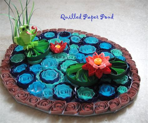 Paper Quilling - quilled paper pond