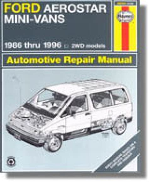 car repair manuals online free 1990 ford aerostar instrument cluster haynes ford aerostar mini vans 1986 1997 auto repair manual