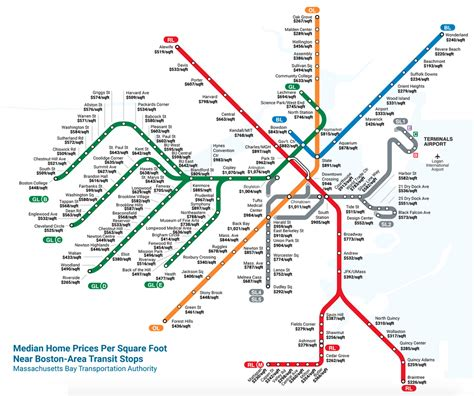 Mbta Map Red Line by How Much It Costs To Live At Each Mbta Stop Boston Magazine