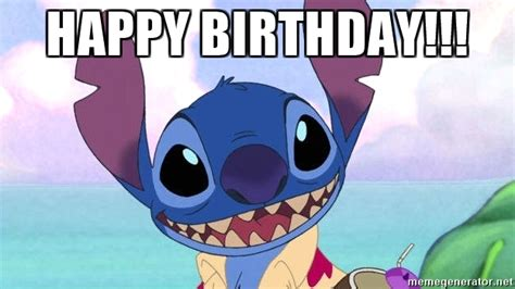 Stitch Memes - happy birthday stitch buzzkill meme generator