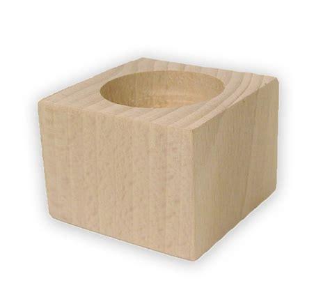 kerzenhalter 4 cm teelichthalter kerzenhalter aus buchenholz unbehandelt 6