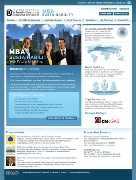 Duquesne Mba Program by 50 Websites For Educational Institutions