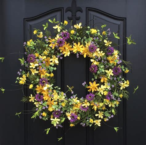 Summer Front Door Wreaths Summer Wreaths Yellow Wreath Summer Front Door