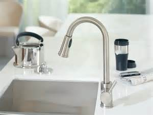 Moen Level Kitchen Faucet Moen 7175 Level One Handle High Arc Pullout Kitchen Faucet