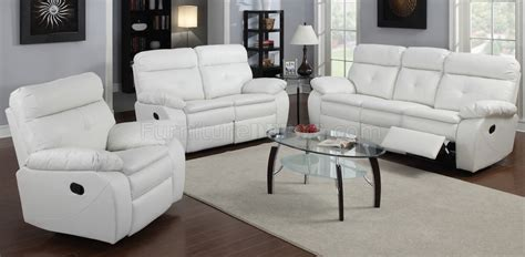 G577a Reclining Sofa Loveseat In White Bonded Leather By White Recliner Sofa
