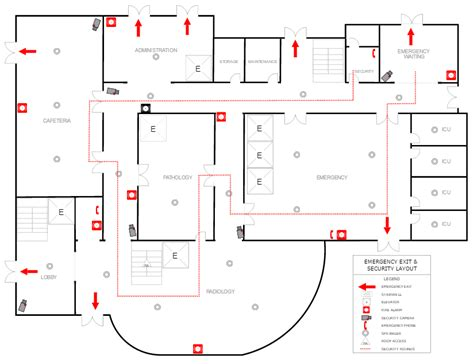 emergency evacuation floor plan template emergency plan software make free escape plans