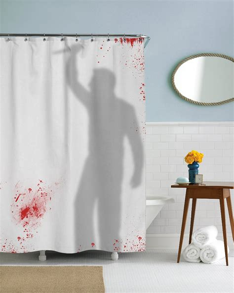 ahower curtain 21 horror inspired shower curtains to creep up your home