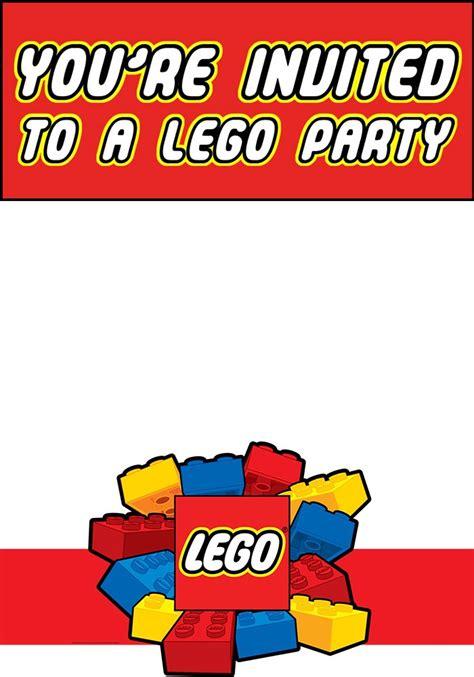 free printable lego invitation templates