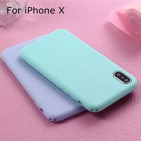 Softcase Macaron Black Iphone 66s 1 xbxcase macarons color tpu silicone frosted matte for iphone 6 6s 5 5s se 8 plus x soft
