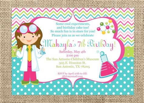 Science Party Invitations Theruntime Com Free Science Birthday Invitation Templates