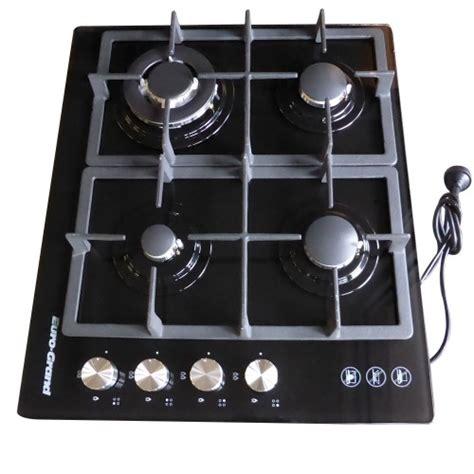 glass cooktop cast iron ovens cooktops 60cm black glass top 4 burner gas