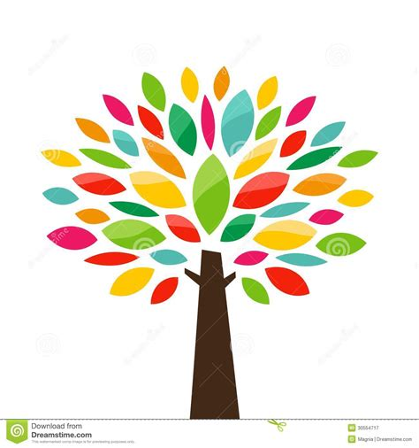tree colors stylized tree royalty free stock photography image 30554717