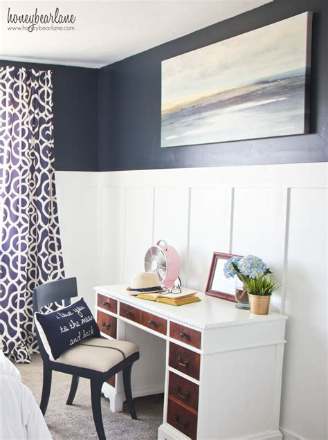 Navy Pink Bedroom by Navy And Pink Guest Room Reveal Honeybear