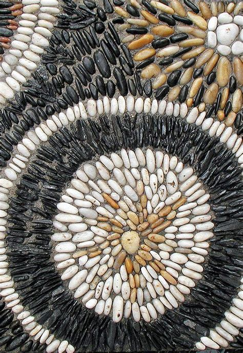 garden pathway pebble mosaic ideas quiet corner