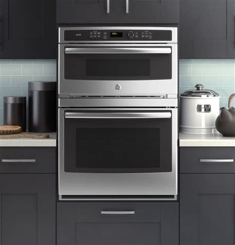 Microwave Oven Advance ge modernizes the microwave wall oven combination with its