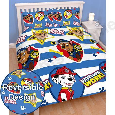 paw patrol bedding paw patrol official duvet cover sets various designs kids