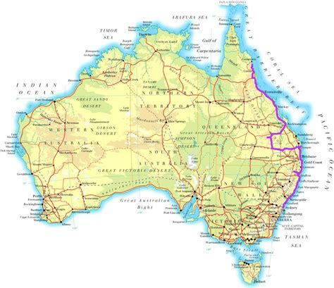 map east coast of australia australia map east coast