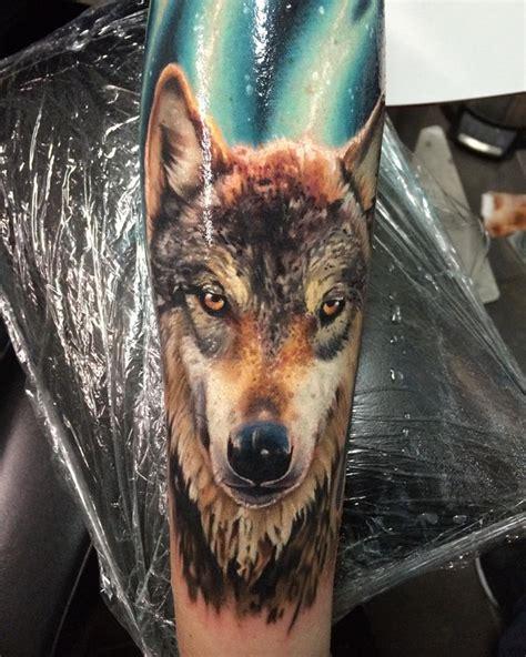 realistic wolf tattoo  tattoo design ideas
