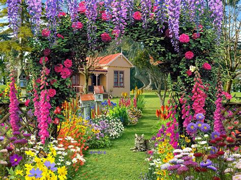 Pretty Flower Garden Amazing Garden Flowers Wallpapers Beautiful Flowers Wallpapers