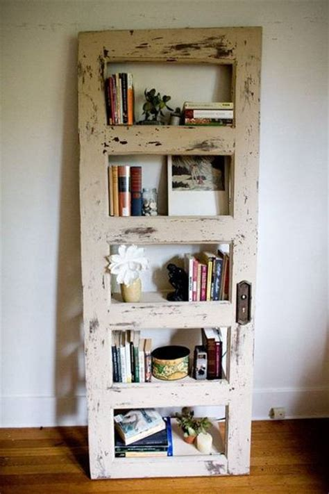 Door Shelf by 25 Ways To Reuse And Recycle Wood Doors For Shelving Units Racks And Wall Decorations
