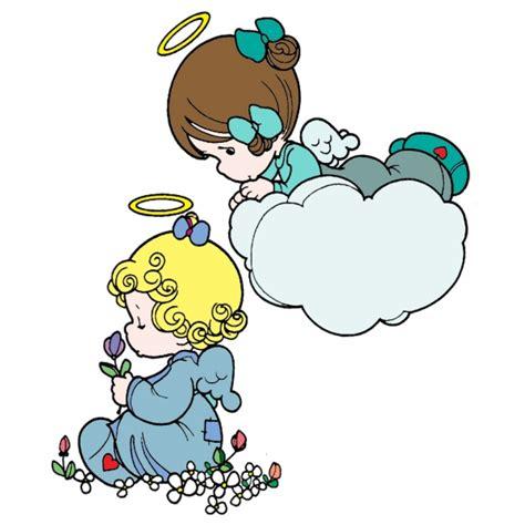 clipart di natale gratis disegno di angioletti a colori per bambini