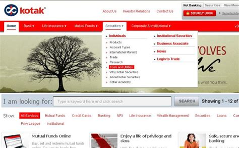 St Kotak kotak net banking login3 can you to your on forum
