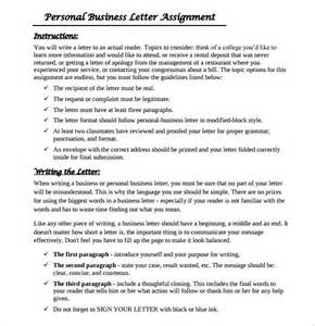 Assignment On Business Letter Personal Business Letter 9 Download Free Documents In
