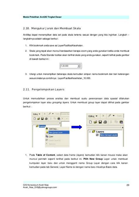 tutorial arcgis 10 tingkat dasar modul arc gis tingkat dasar