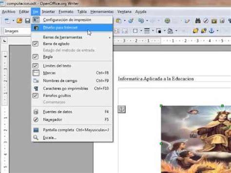 tutorial openoffice youtube tutorial de manejo de imagenes en el texto openoffice