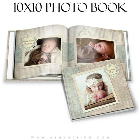 baby boy photo book 10x10 parker elliot ashedesign