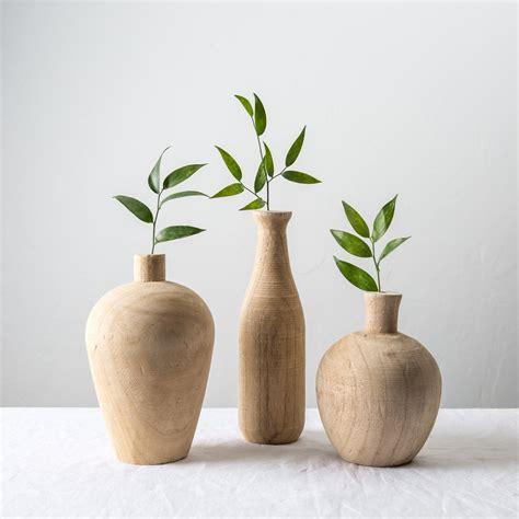 Short Vases Paulownia Wood Vase Magnolia Chip Amp Joanna Gaines