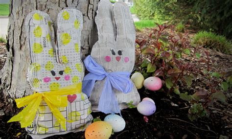 decorating end tables without ls shades of tangerine recycle bin easter bunnies