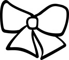bow coloring pages hair bow clip at clker vector clip