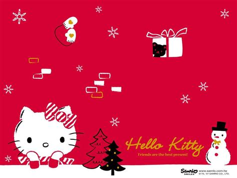hello kitty holiday wallpaper hello kitty christmas backgrounds wallpaper cave