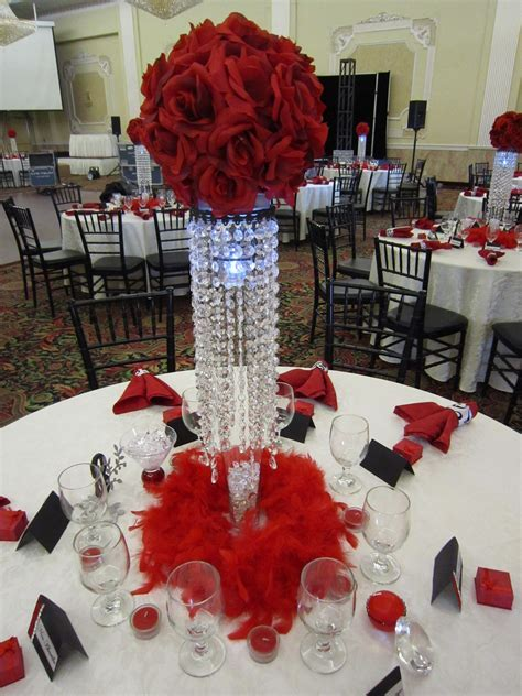 Wedding Centerpiece Ideas     Party ? with Red Rose Ball