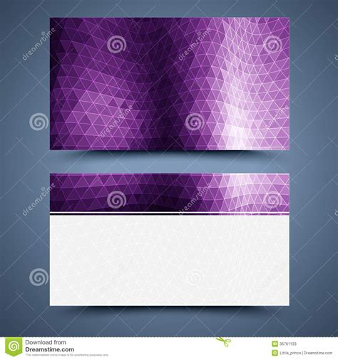 purple business card template business card template abstract background stock vector