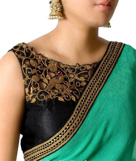 color neck pattern best simple latest blouse designs with boat neck for saree