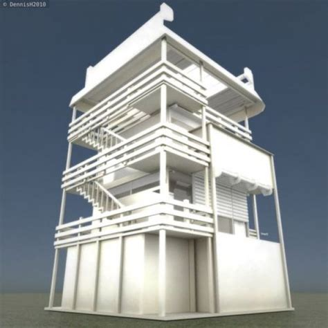 tower house design tower house design 3d model 3ds obj dae blend fbx mtl dxf stl