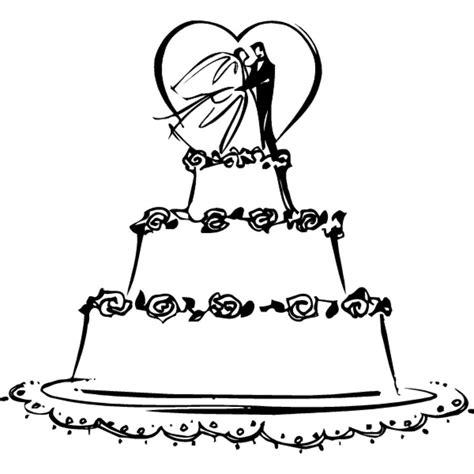 kolorowanki kolorowanki tort weselny do druku dla dzieci